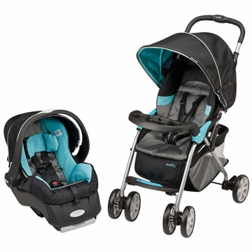 Evenflo Featherlite 200 with Embrace 35 Travel System - Trivet Blue