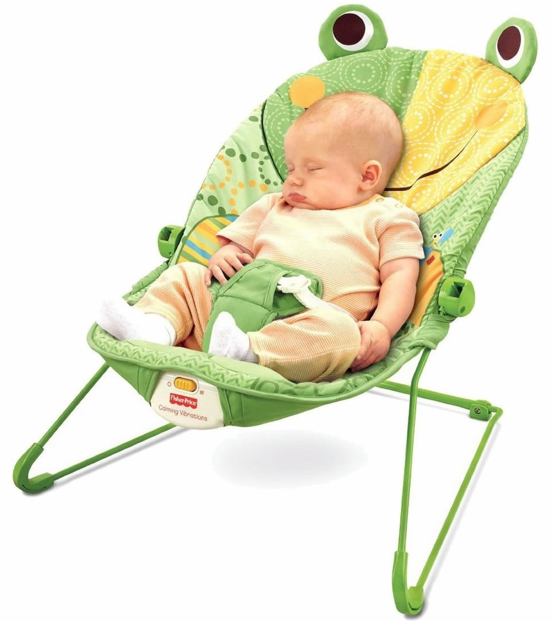 Toys For Infants >> Fisher-Price Baby Infant Bouncer Seat Chair in Frog Green