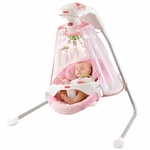 Fisher-Price Butterfly Garden Papasan Cradle Swing