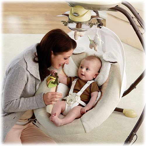 Fisher price swinging bassinet are