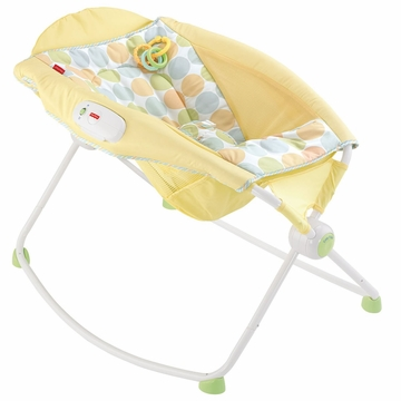 Fisher-Price Newborn Rock 'n Play Sleeper - Yellow Dots
