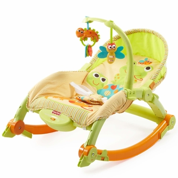 Fisher-Price Newborn-To-Toddler Portable Rocker Lizards