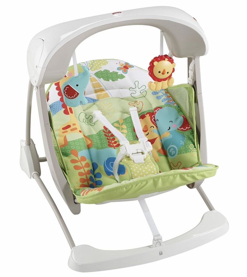 Fisher-Price Rainforest Friends Deluxe Take-Along Swing & Seat
