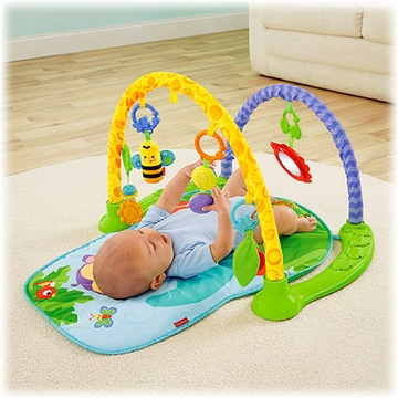 Fisher-Price Rainforest Friends Link �n Play Musical Gym
