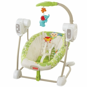 Fisher-Price Rainforest Friends SpaceSaver Swing & Seat