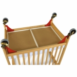 Foundations First Responder Evacuation Hardware - Red/Brass Casters