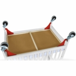 Foundations First Responder Evacuation Hardware - Red/Chrome Casters