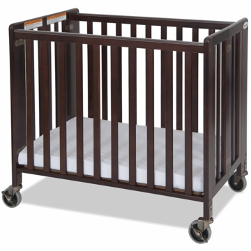 Foundations HideAway EasyRoll Wooden Folding Crib in Antique Cherry