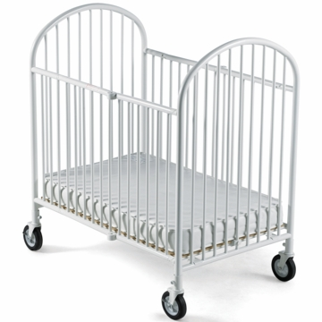 Foundations Pinnacle Easyroll Folding Crib in White
