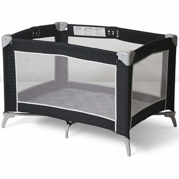 Foundations Sleep N Store Portable Crib - Mod Plaid Graphite