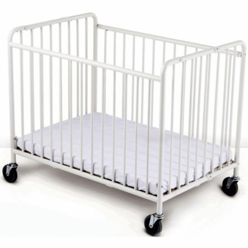Foundations StowAway Easyroll Folding Crib in White