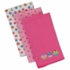 Gerber 3 Pack Knit Burp Cloths - Girl