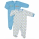 Gerber Boy 2 Pack Zip Front Sleep 'N Play Footie - 0 to 3 Months