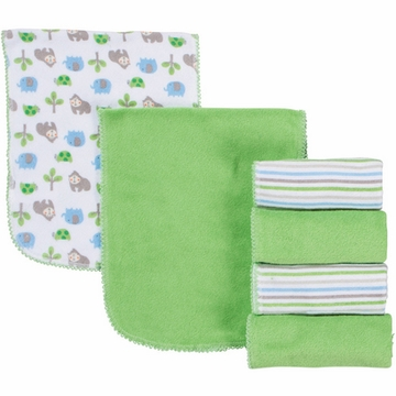 Gerber Boy 6 Pack Terry Burp Cloths