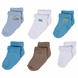 Gerber Boy 6 Pack Variety Socks - 6 to 9 Months