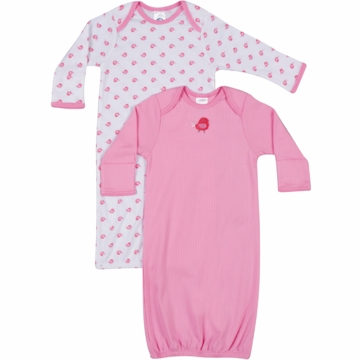 Gerber Girl 2 Pack Lap Shoulder Gown - 0-6 Months