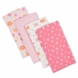 Gerber Girl 4 Pack Flannel Burp Cloths