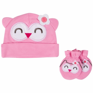 Gerber Girl Novelty Cap & Mitten Set - 0 to 6 Months