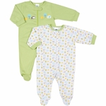 Gerber Neutral 2 Pack Zip Front Sleep 'N Play Footie - 6 to 9 Months
