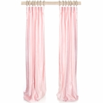 Glenna Jean Anastasia Drapery Panels in French Pink Velvet (Set of 2)