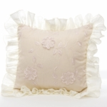 Glenna Jean Ava Floral Overlay with Ruffle Pillow