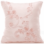Glenna Jean Ava Pink Ribbon Pillow