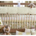 Glenna Jean Cape Town Convertible Crib Rail Protector - Short Set