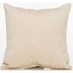 Glenna Jean Cape Town Throw Pillow - Cream Cheetah Velvet
