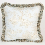 Glenna Jean Central Park Toille with Fringe Pillow