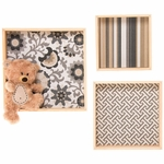 Glenna Jean Cube Wall Art with Bear Wall Hanging