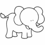 Glenna Jean Elephant Vinyl Wall Decal