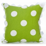 Glenna Jean Ellie & Stretch Throw Pillow - Green Dot with Rick Rack