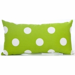 Glenna Jean Ellie & Stretch Throw Pillow - Rectangular Green Dot