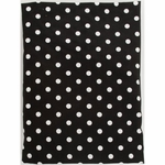 Glenna Jean Fitted Sheet - Black Dot