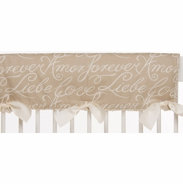 Glenna Jean Love Letters Convertible Crib Rail Protector - Short Set