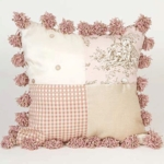 Glenna Jean Madison Patch with Pom Poms Pillow