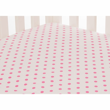 Glenna Jean Millie Fitted Sheet in Pink Dot