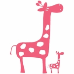 Glenna Jean Pink Giraffe Wall Decals - Set of 2
