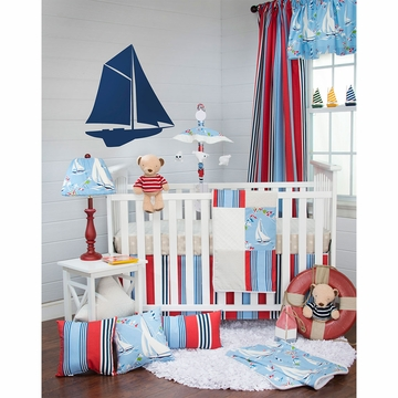 Glenna Jean Set Sail 3 Piece Crib Bedding Set