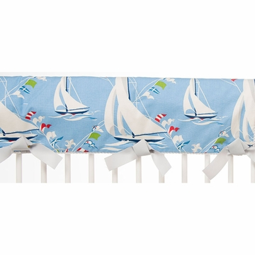 Glenna Jean Set Sail Crib Rail Protector - Long