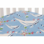Glenna Jean Set Sail Fitted Sheet - Sailboats