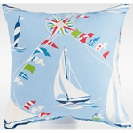 Glenna Jean Set Sail Throw Pillow - Sailboats