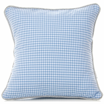 Glenna Jean Starlight Pillow - Blue Gingham
