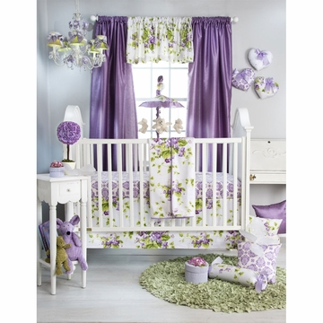 Glenna Jean Sweet Violets 3 Piece Crib Bedding Set