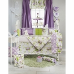 Glenna Jean Sweet Violets 4 Piece Crib Bedding Set