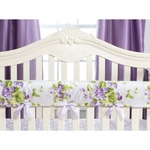 Glenna Jean Sweet Violets Convertible Crib Rail Protector - Short Set