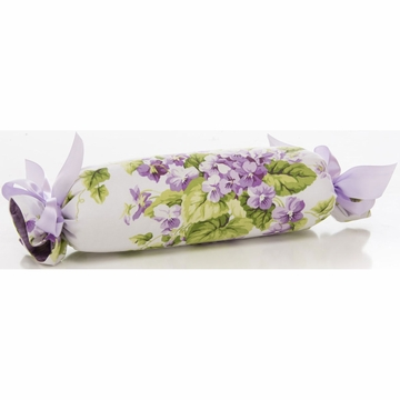 Glenna Jean Sweet Violets Roll Pillow - Floral