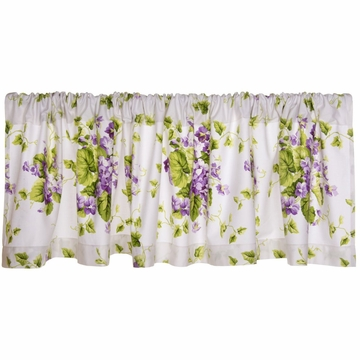 Glenna Jean Sweet Violets Window Valance