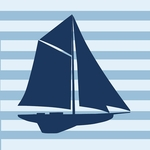 Glenna Jean Wall Decal - Navy Boat