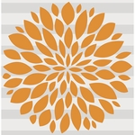 Glenna Jean Wall Decal - Orange Flower